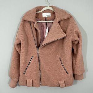NWT Newbury Kustom Pink Teddy Bear Moro Jacket